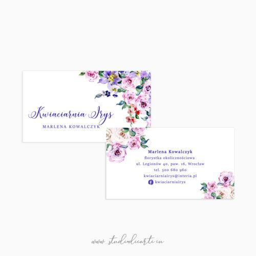 wizytówki dla kwiaciarni wizytówki dla florystki