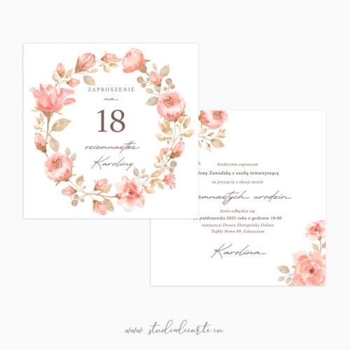 Zaproszenia na osiemnste urodziny