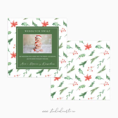 karty świąteczne ze zdjęciem