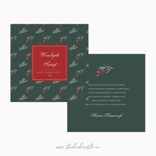wyjątkowe kartki świąteczne