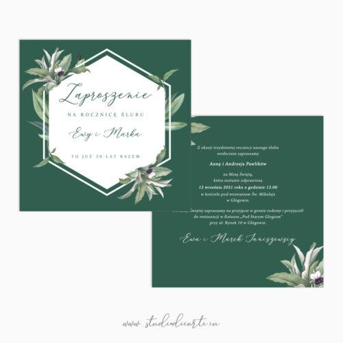 eleganckie zaproszenia na rocznicę jubileusz