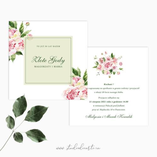 Eleganckie zaproszenia na dowolną rocznicę ślubu